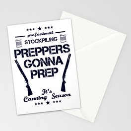 Preppers Gonna Prep Prepping Stockpiling Canning Season USA United States WW3 Stationery Cards