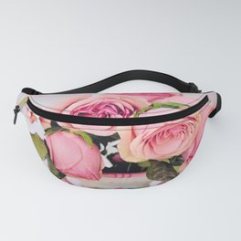 Pink Roses in a Vase Fanny Pack