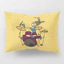 Crazy drummer Pillow Sham