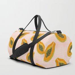 Papaya in sunset Duffle Bag