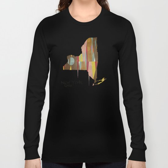 new york state map Long Sleeve T-shirt