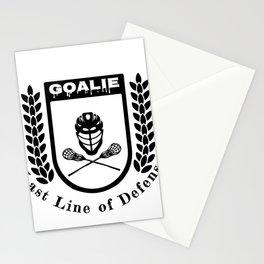 Lacrosse Goalie Last Line of Defense Lacrosse Goaltender Stationery Cards