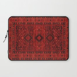 Red Traditional Oriental Moroccan & Ottoman Style Artwork. Laptop Sleeve
