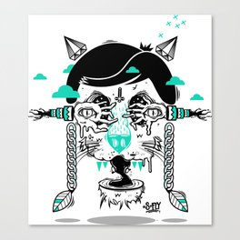 evilcat by s-fly Canvas Print
