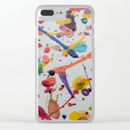 Splodge Clear iPhone Case