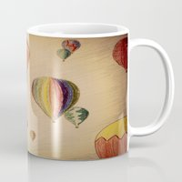 hot air balloons Mugs featuring Hot Air Balloons by AdrienneW