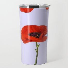 MODERN RED-ORANGE POPPIES DESIGN Travel Mug