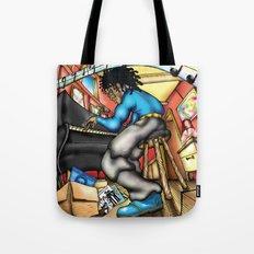 C2 & Posse piano player Tote Bag