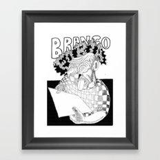 Branco fobia Framed Art Print