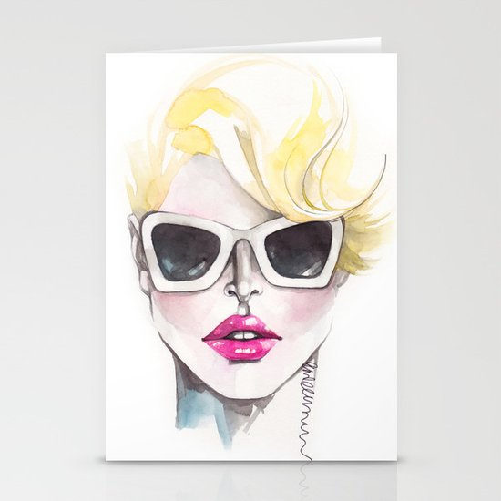 Blonde Chic Stationery Cards