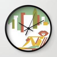 central park Wall Clocks featuring Central Park by Szoki