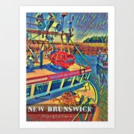 Bay of Fundy Fishing Boat at Dock Art Print