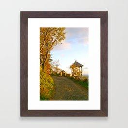 Sunset on Mohonk Trail, New Paltz, New York Framed Art Print