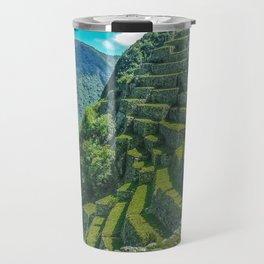 Terraces of Macchu Pichu City, Cusco - Peru Travel Mug