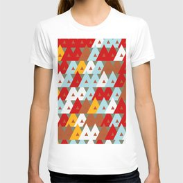 Colorful Abstract Random Triangles Texture T-shirt