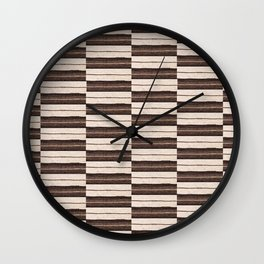 Flat Weavin 6 Wall Clock