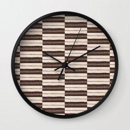 Flat Weavin 6 Wall Clock