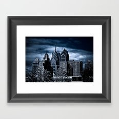 the dark city Framed Art Print
