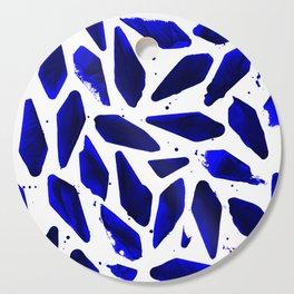 Cobalt Blue Ink Blots Cutting Board