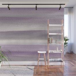 Purple Gray Watercolor Dream #1 #painting #decor #art #society6 Wall Mural