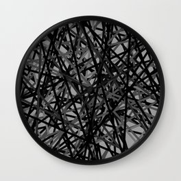 Kerplunk Extended Black and White Wall Clock