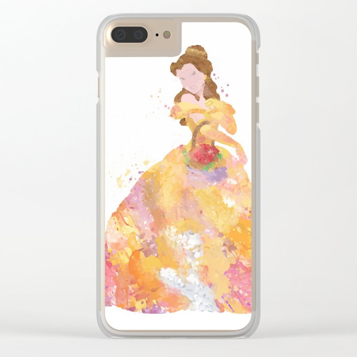 Princess Belle Clear iPhone Case