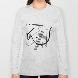 Kandinsky - Black and White Abstract Art Long Sleeve T-shirt