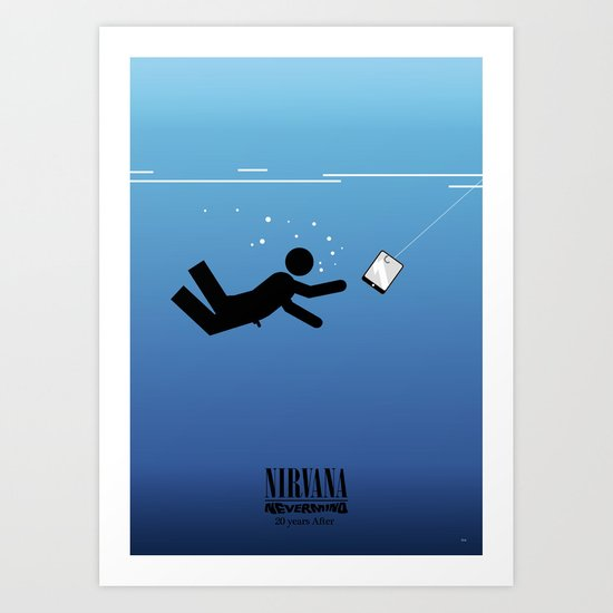 Nirvana's Nevermind: 20 years after Art Print