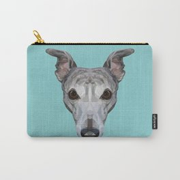 Whippet // Blue Carry-All Pouch
