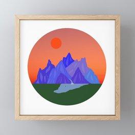 Fifteen // Tangerine Framed Mini Art Print
