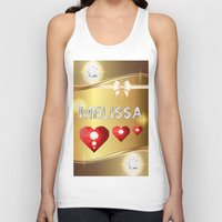 melissa smith Tank Tops featuring Melissa 01 by Daftblue