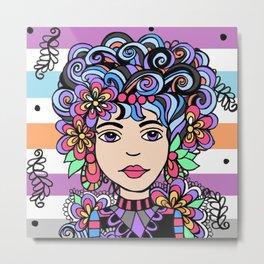 Style Girl - Elsie - No 8 - Doodle Drawing Metal Print