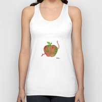 apple Tank Tops featuring Apple by Phil McAndrew