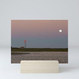 Romantic Galveston Beach Strawberry Full Moon Mini Art Print