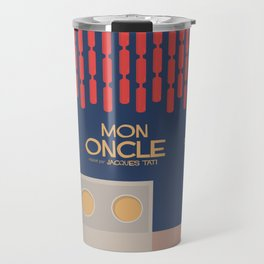 Mon Oncle - Jacques Tati Movie Poster, classic French movie, old film, Cinéma français, fun, humor Travel Mug