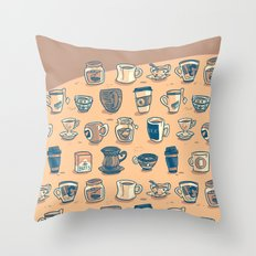 Coffee & Tea & Butts Throw Pillow