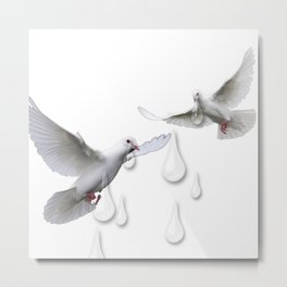 Can you hear the doves crying Metal Print