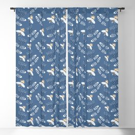Bees and hand bells Blackout Curtain