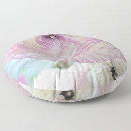 WHITE RANUNCULUS FLOWER Floor Pillow