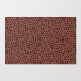 Circle Swirl Pattern Solid Color Dunn Edwards Color of the Year Spice of Life DET439 Canvas Print