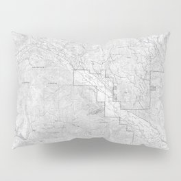 Methow Valley Topography - SeriousFunStudio Pillow Sham