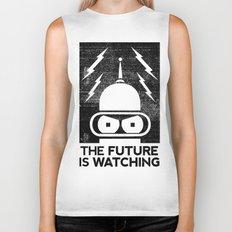 The Future Is Watching Biker Tank