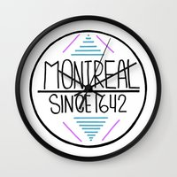 montreal Wall Clocks featuring Montreal by Aurelie