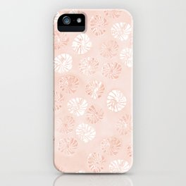 Abstract botanical monstera pattern - peach iPhone Case