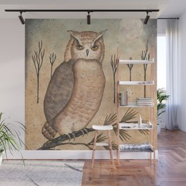 Hoot Owl by Donna Atkins Wall Mural