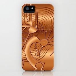 Magical Kokopelli in Burnt Orange iPhone Case