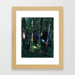 5 of Swords Framed Art Print