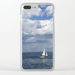 Breezy Sailing Clear iPhone Case
