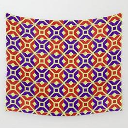 Como mosaic, red, purple, light pistachio Wall Tapestry