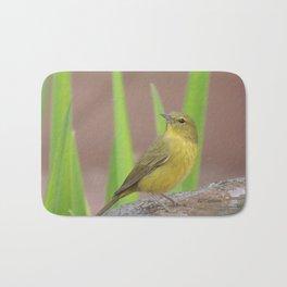 Yellow Warbler at the Fountain Bath Mat